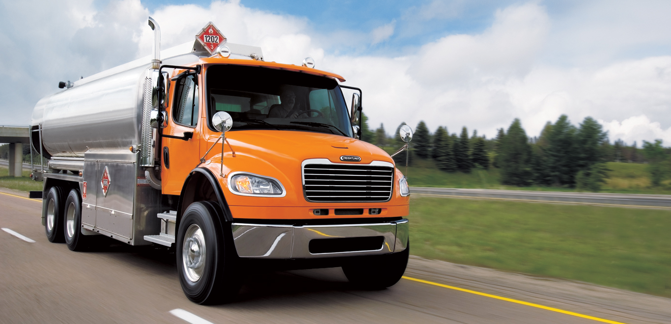 Freightliner M2 142 Orange