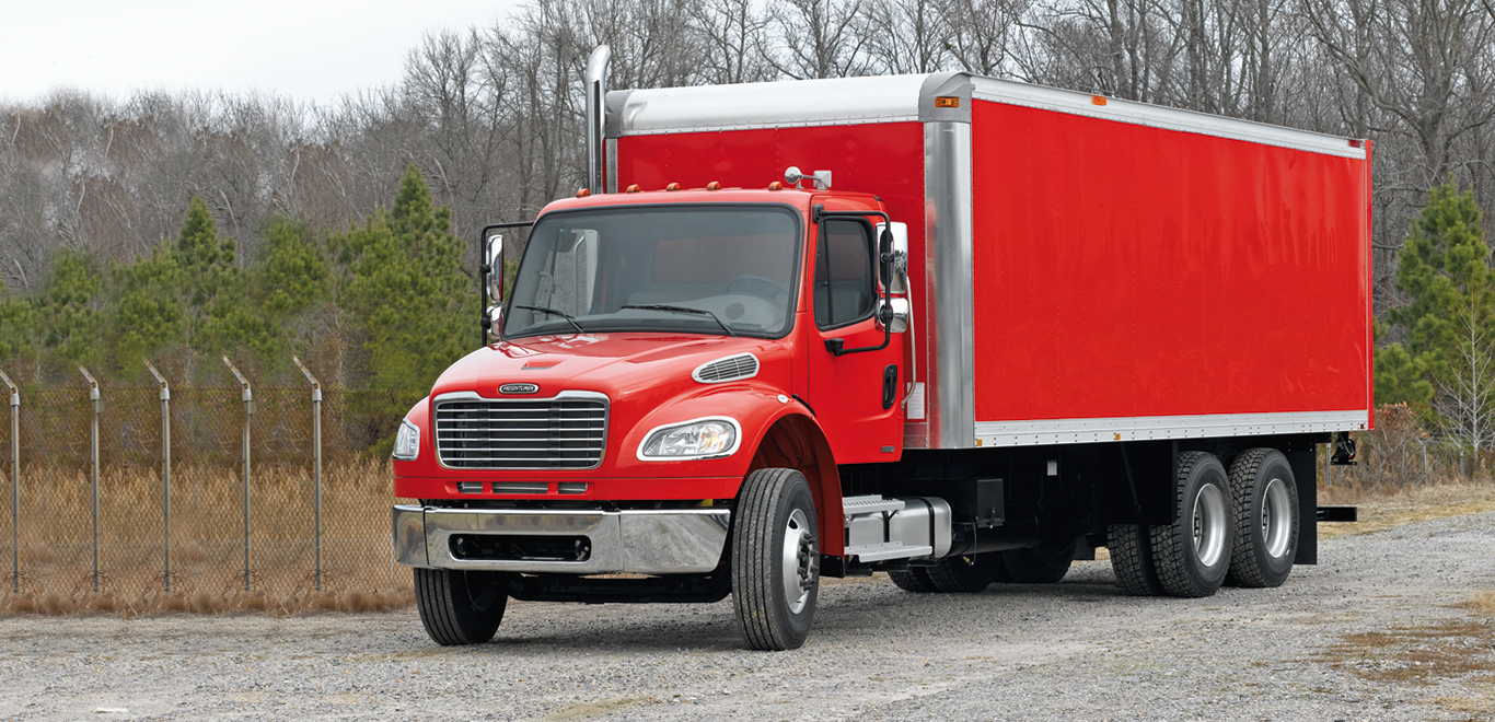 Freightliner Red Box Truck