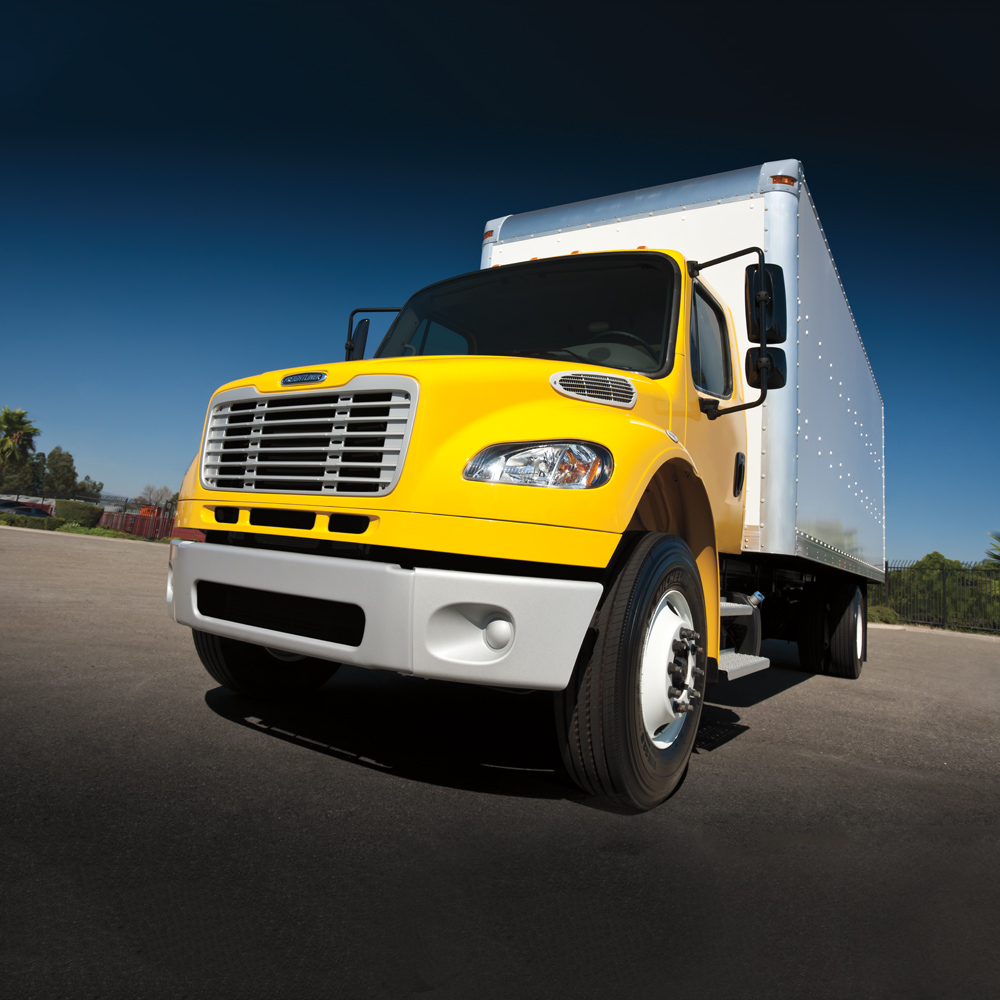 Freightliner Yellow Box Truck