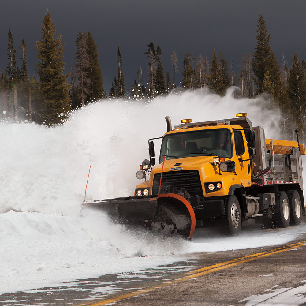 Freightliner Plowing Snow
