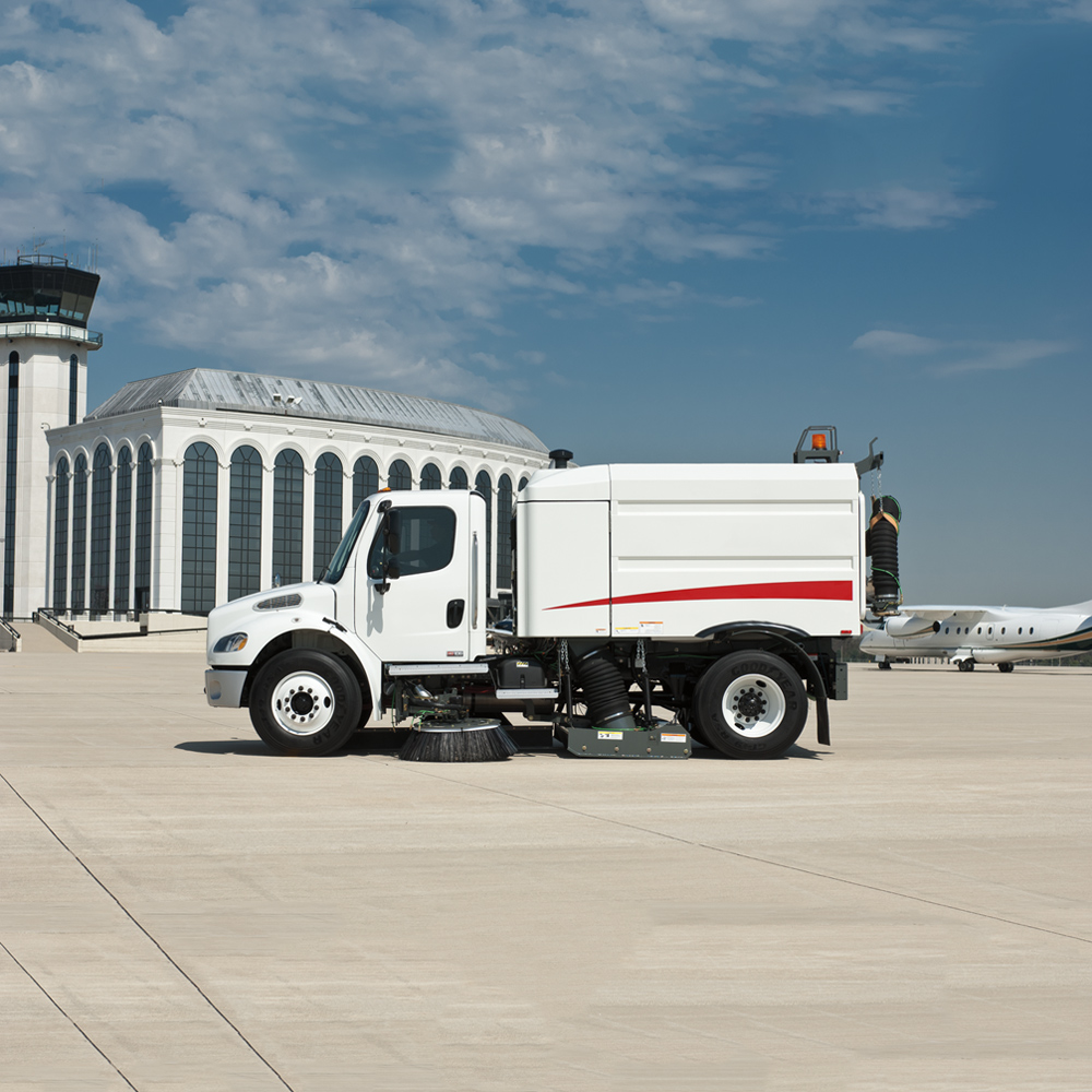Freightliner Sweeper at AIrport