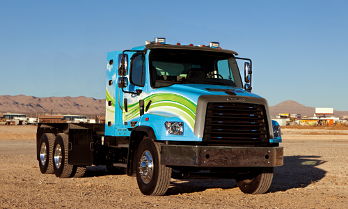 Freightliner 114SD_NG Green White Blue