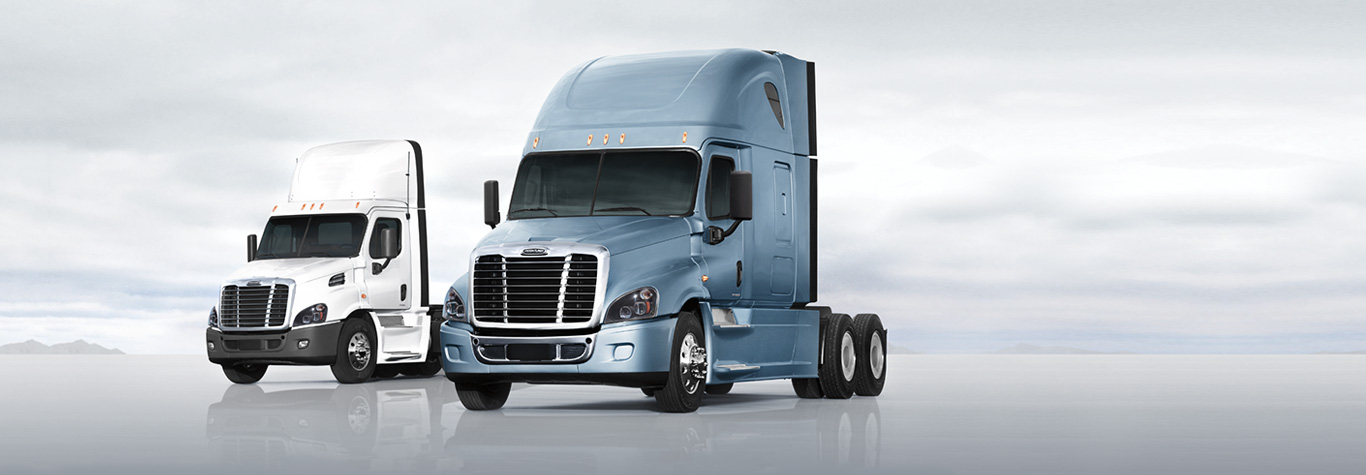 Freightliner Cascadia Evolution Blue and White